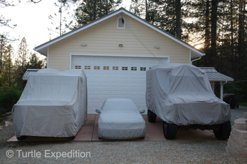 Some of our most valuable possessions are protected from the weather when they are not in the garage.