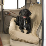 The Covercraft Doggie Bed protects your vehicle's rear seat and it can be used indoors as well. © Covercraft