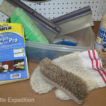 Our basic compact cleaning kit includes drying towels, wash mitt, wash & tire brush and Carrand Water Blades.