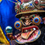 The annual carnival in Oruro, Bolivia is famous for the fantastic devil masks participants wear as they march in the streets.