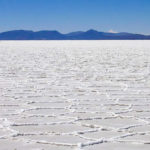 Salar de Uyuni, the largest salt desert in the world.