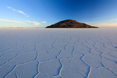 Salar de Uyuni, Bolivia is the largest salt flat in the world.