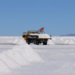 Taking from an estimated 10 billion tons of salt, harvesting may go on all year.